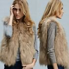 Stylish Ladies Women Sexy Lady Faux Fur Solid Casual Sleeveless Warm Vest NC8901