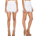New Women's Lace Fabric Full Lined Elastic Waist Mini Skirt
