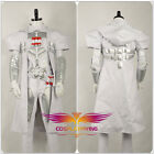 Game OW Overwatch Reaper White Knight Uniform Cosplay Costume Nanosuit Custom