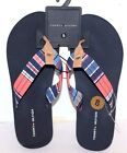 TOMMY HILFIGER JOJO-R FLIP FLOPS SANDALS SIZES VARIATION BLUE MULTI FABRIC WOMEN