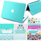 """Mint Green Rubberized Hard Case +Keyboard Cover for Macbook Air Pro 13""""15""""Retina"""