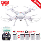 Syma X5SW 2.4G RC Drone with WIFI HD Camera FPV Real Time RC Quadcopter Headless <br/> Syma Offical✔0.3MP Stabilized Camera✔+ 4 Spare Battery✔