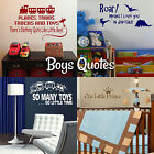 Boys Quote Wall Stickers! Transfer Graphic Decal Decor Art Stencil Cute Saying