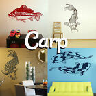 Carp Wall Sticker! Home Transfer Fish Graphic Koi Decals Decor Stencil Pond Boys