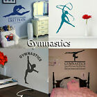 Gymnastics Wall Stickers Transfer Girls Bedroom Graphic Decals Gymnast Decor UK