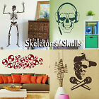 Skeleton Wall Stickers! Transfer Skull Graphic Decal Decor Sticker Art Stencils