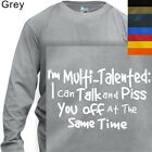 LONG SLEEVE T-SHIRT GRAPHIC TEE   MULIT TALENTED #143  S to 4X PLUS)