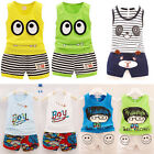 Kids Toddler Baby Boys Girls Summer Outfit Clothes T-shirt Tops+Shorts 2PCS Set