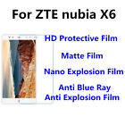 3pcs For ZTE nubia X6 High Clear/Matte/Anti Blue Ray Screen Protector