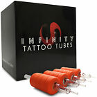 "Внешний вид - 20 Infinity Clear Disposable Tattoo Tubes 1"" Grip with Tip - Round Flat Diamond"