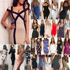 Lady Women's Bodycon Bandage Sleeveless Evening Party Cocktail Short Dress Lot