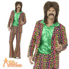 Mens 60s 70s Psychedelic CND Suit Costume Hippy Hippie Fancy Dress Outfit