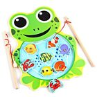 Educational Children Kids High Magnetic Fishing Game Puzzle Board Wooden Toys