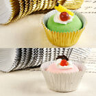 200x Foil Metallic Egg Tart Cupcake Liners Muffin Cases Chocolate Baking Mould
