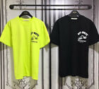 New Contracting Tractor Work Graphic Print Short Sleeve T-Shirts Black Yellowish