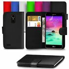 For LG K10 2017 PU Leather Wallet Case Cover With Screen Protector