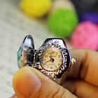 Women Adjustable Rings Watches Flower Ladies Clamshell Watches