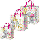 Me to You Tatty Teddy Large Medium Small Floral Gift Bag & Tag Tags