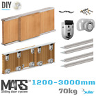 Wardrobe Sliding Door Gear | Track Kit DIY | 70kg bearing Wheels | 1200-3000mm