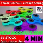 Luminous ABS Finger Hand Spinners Fidget Stress Relief Adults Kid EDC Gift Toys
