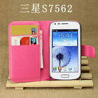 For Samsung Galaxy Trend Duos S7562 Flip Card PU Leather Case Stand Wallet Cover