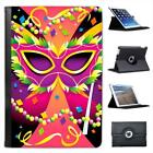 It's Carnival Mayhem Time - Beads, Mask & Colours Leather Case For iPad Mini