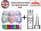 7 Color LED Face Mask Photon Skin Care Acne Wrinkles Anti Ageing + FREE Serum!!