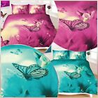 3D BUTTERFLY PLUM TEAL QUILT COVER PILLOWCASE Single Double King Super King