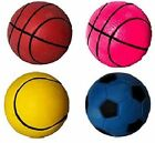 """SPORTS BALL - 2.6"""" / 3.7"""" - Dog Assorted Fluorescent Balls Puppy dm Large Toy"""