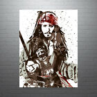 Jack+Sparrow+Pirates+of+the+Caribbean+Disney+Movie+Poster+FREE+US+SHIPPING