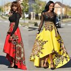 Hot Women African Printed Summer Boho Long Dress Beach Evening Party Maxi Skirt