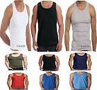 3 X 6 X MENS VESTS 100% Cotton TANK TOP SUMMER TRAINING GYM TOPS PACK PLAIN