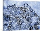 Premium Thick-Wrap Canvas Wall Art entitled Edinburgh Street Map