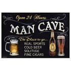 Man Cave Poster Art Print, Beer Home Decor
