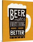 Solid-Faced Canvas Print Wall Art entitled Craft Beer II