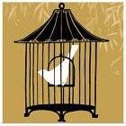 Poster Print Wall Art entitled Birdcage Silhouette I