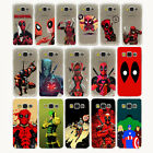 Coque Marvel Soldiers Deadpool Comics Hard Case All Samsung Galaxy S8 S5 S6 S7