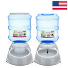 Pet Dog Cat Automatic Food Drink Dispenser Feeder Water Bowl Dish 3.5L  Large