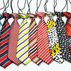School Boys Children Wedding Silk Colorful Elastic Star Leopard Stripe Necktie