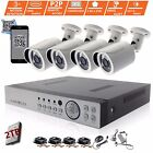 4CH CCTV DVR Record 2.4MP 1080P Camera Day Night Vision Home Security System Kit