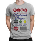 Mens KEYBOARD PLAYER T-Shirt Music Product Label GIFT Musician Festival Christma