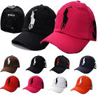 Stylish Polo Fine Embroidery Big Pony Adjustable Unisex Baseball Summer Cap Hats