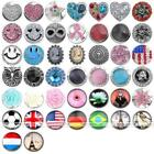 Metal Rhinestone Resin Charms Snap On Button Popper for Bangle Bracelet DIY Gift