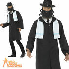Adults Rabbi Costume Mens Jewish Priest Religious Fancy Dress Outfit