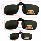 New Polarized Clip on Over Sunglass Spectacle Lens Black Driving Glasses Travel