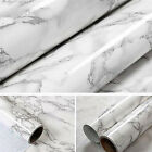 New Marble Contact Paper Self Adhesive Glossy Worktop Peel Stick Wallpaper RollA