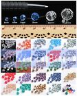 Hot 8mm Rondelle Faceted Glass Crystal Charms Loose Spacer Jewelry Beads $0.99 USD