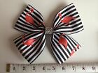 Handmade Patterned Ribbon 8 inch Extra Large Oversized Double Bow Hair Clip