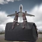 Large Capacity Men Luggage Leather Travel Shoulder Bags Duffle Gym Bags Tote PU