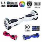 """UL2272 Bluetooth Hoverboard LED 6.5"""" Solid Color Self Balance Electric Scooter"""